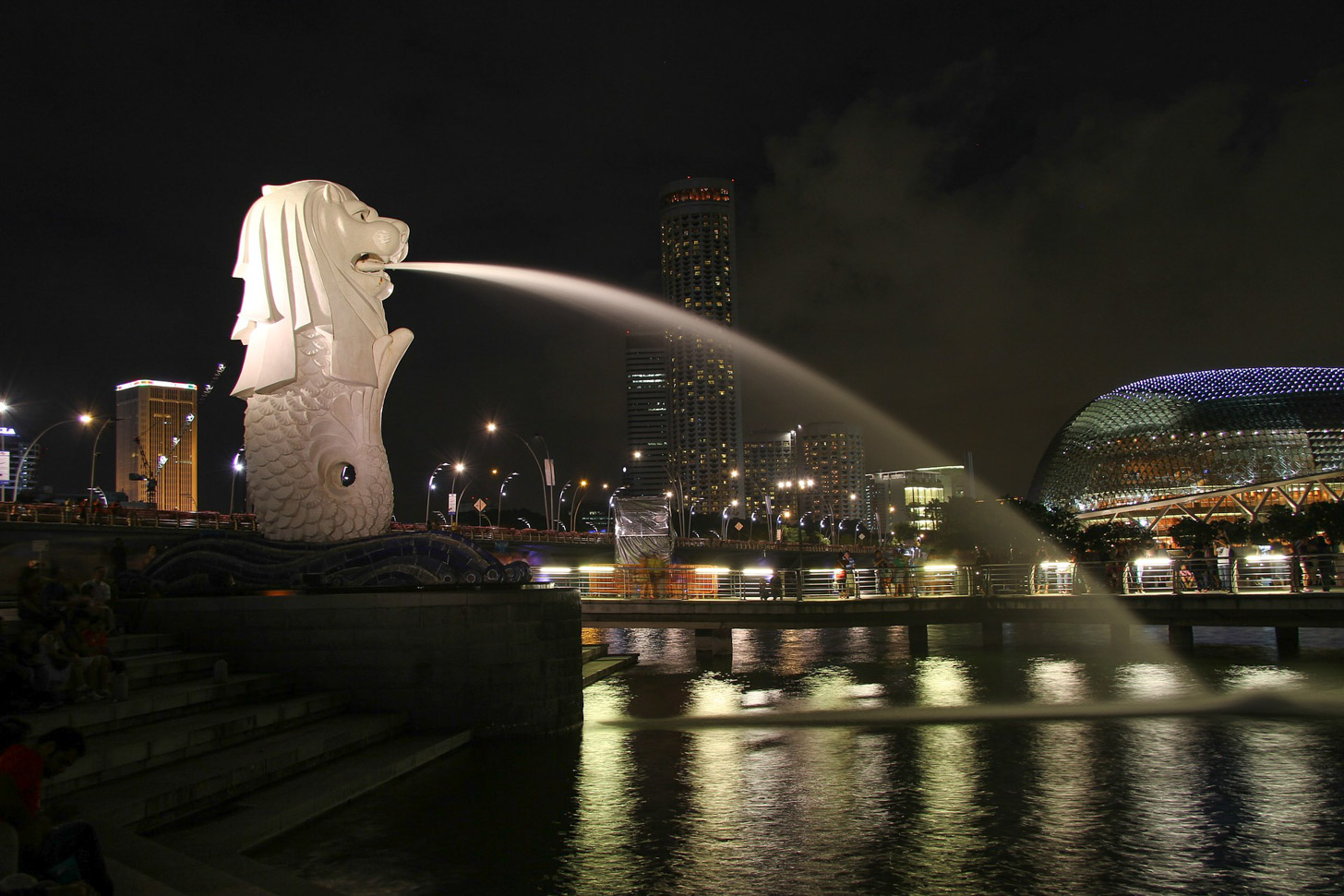 De Merlion in Singapore