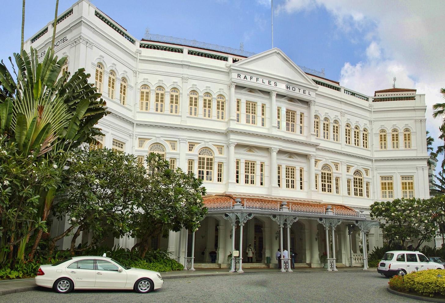 Het Raffles Hotel in Singapore
