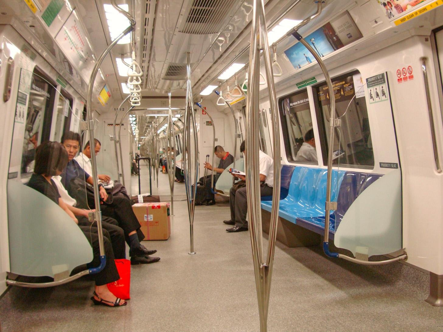 De MRT oftewel de metro in Singapore